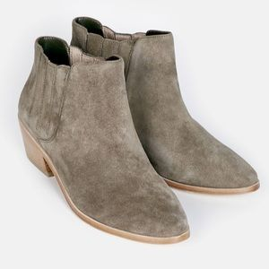 NEW Joie Barlow Pull On Suede Ankle Boots Sz 7